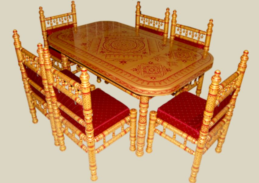 Charmant 6 Seater Dining Table