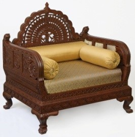 Royal Carving Chair With Coffee Table